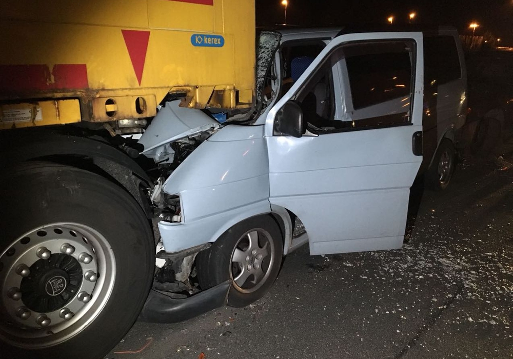 Der Kleintransporter wurde komplett zerstört. Fotos: aktuell24/KR