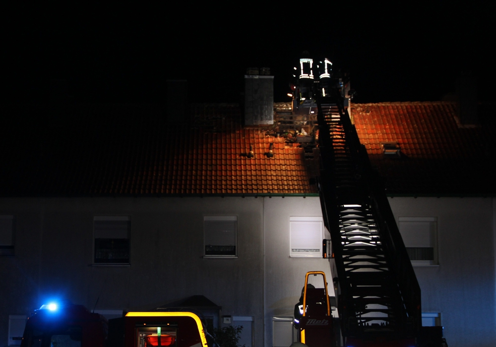 Am gestrigen Samstag zog Abends ein Gewitter über Goslar. Dadurch war die Goslarer Feuerwehr stark gefordert. Foto. Feuerwehr Goslar