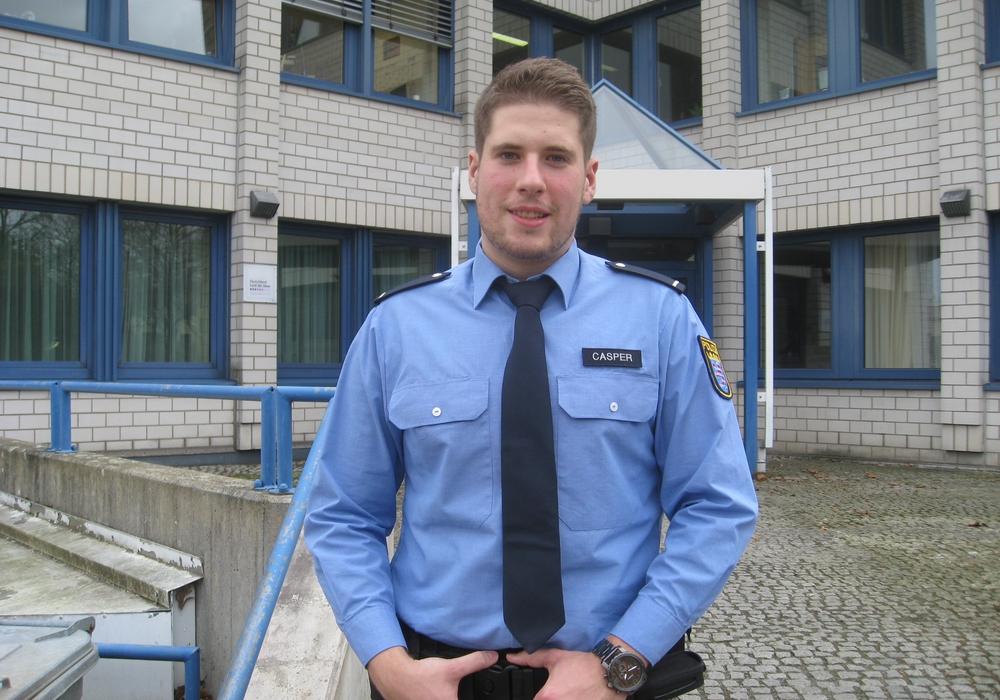 Lars-Eric Caspers aus Hessen geht in Goslar auf Streife. Foto: Polizei Goslar