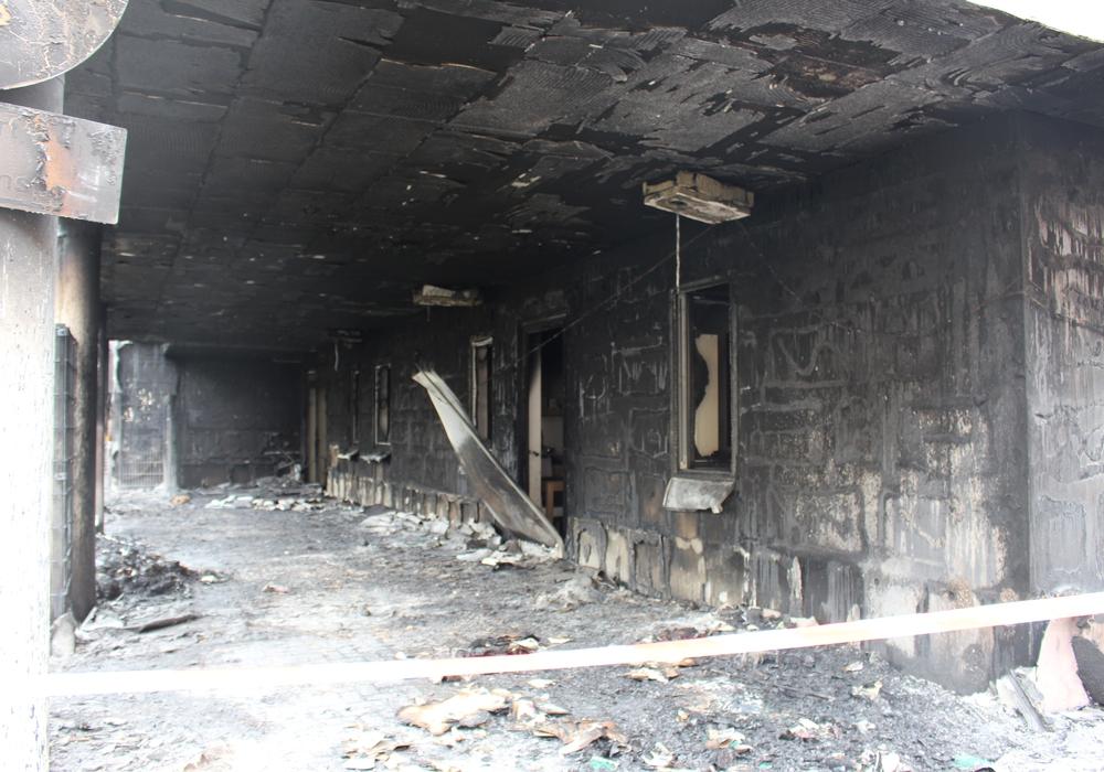 Der Schaden am Ärztehaus war beträchtlich. Foto: Archiv/Nick Wenkel
