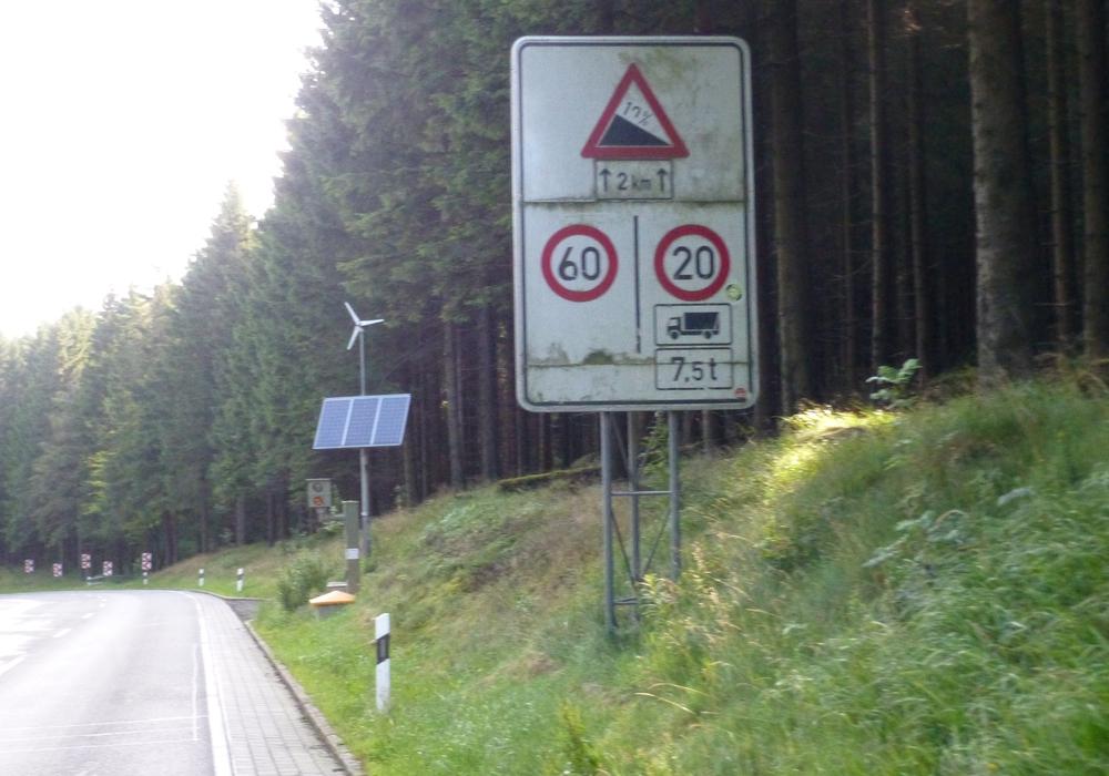 Auf der B4 bei Bad Harzburg wurde ein LKW geblitzt, der zu schnell unterwegs war. Foto: Landkreis Goslar