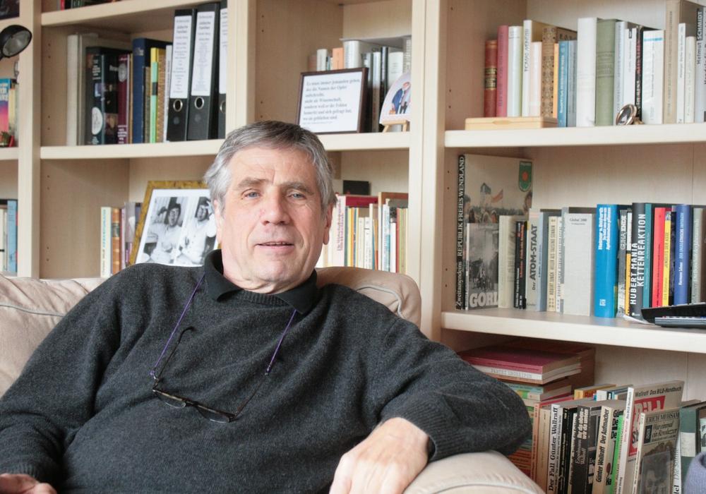Der selbst ernannte Erinnerer Jürgen Kunlehn. Foto: A. Donner