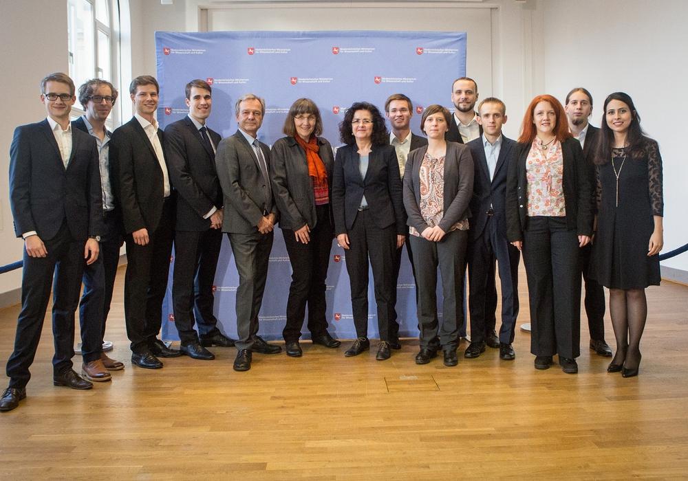 Die Gewinner des Wissenschaftspreises. Foto: MWK/ Fotograf Sven Brauers