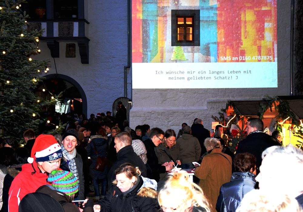 Advent im Schloss macht virtuelle Weihnachtsgrüße möglich. Foto: Stadt Wolfsburg