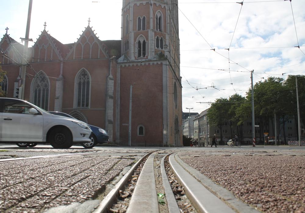 Am Hagenmarkt fahren seit heute keine Straßenbahnen mehr. Foto: Archiv/Christina Balder