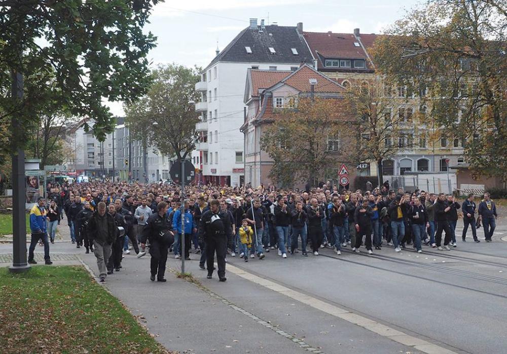 Für die Demonstration gegen den geplanten Gesetzesentwurf wird eine große Resonanz bei den Fußballfans erwartet. Foto: Bernhard Grimm/Archiv