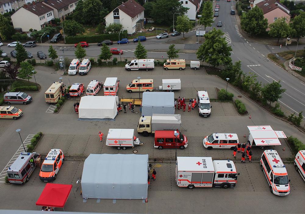 Aufgebauter Behandlungsplatz des DRK-Kreisverbans Goslar. Foto: Timo Pischke\DRK