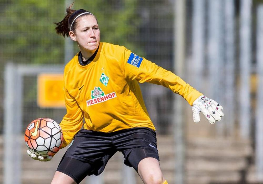 Jennifer Martens stand 19fach für den SV Werder Bremen in der Bundesliga im Tor. Foto: Imago/Foto2Press