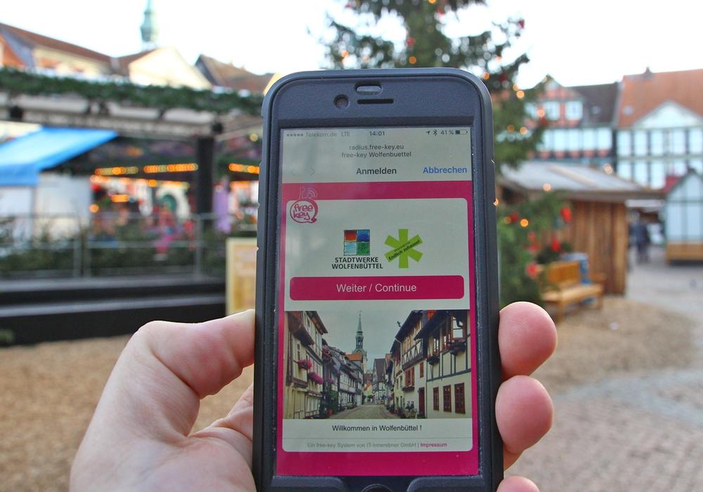 Auf dem Stadtmarkt gibt es ab sofort kostenlosen Internetzugang. Foto: Stadt Wolfenbüttel