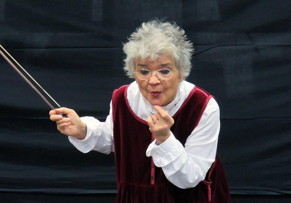Eva Weiss erweckte die Bremer Stadtmusikanten zum Leben. Foto: Privat
