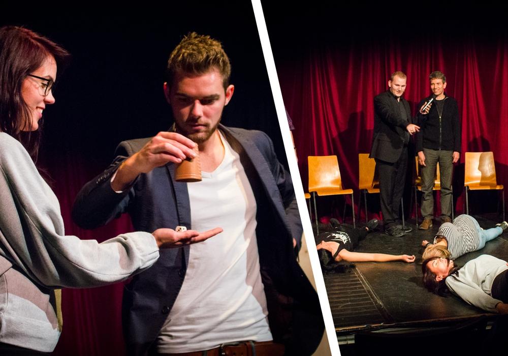 Zauberei und Hypnose konnten die Zuschauer am Donnerstagabend im Kult hautnah erleben. Fotos: Werner Heise