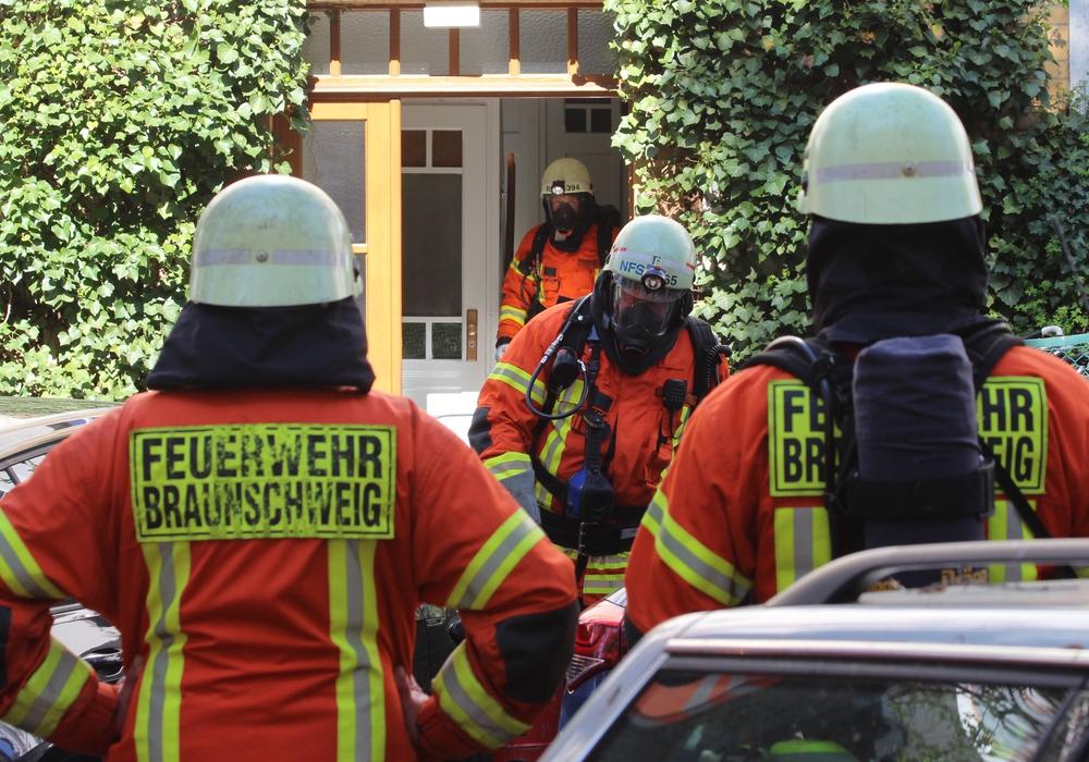 Erneut musste die Feuerwehr ausrücken. Fotos: Frank Vollmer
