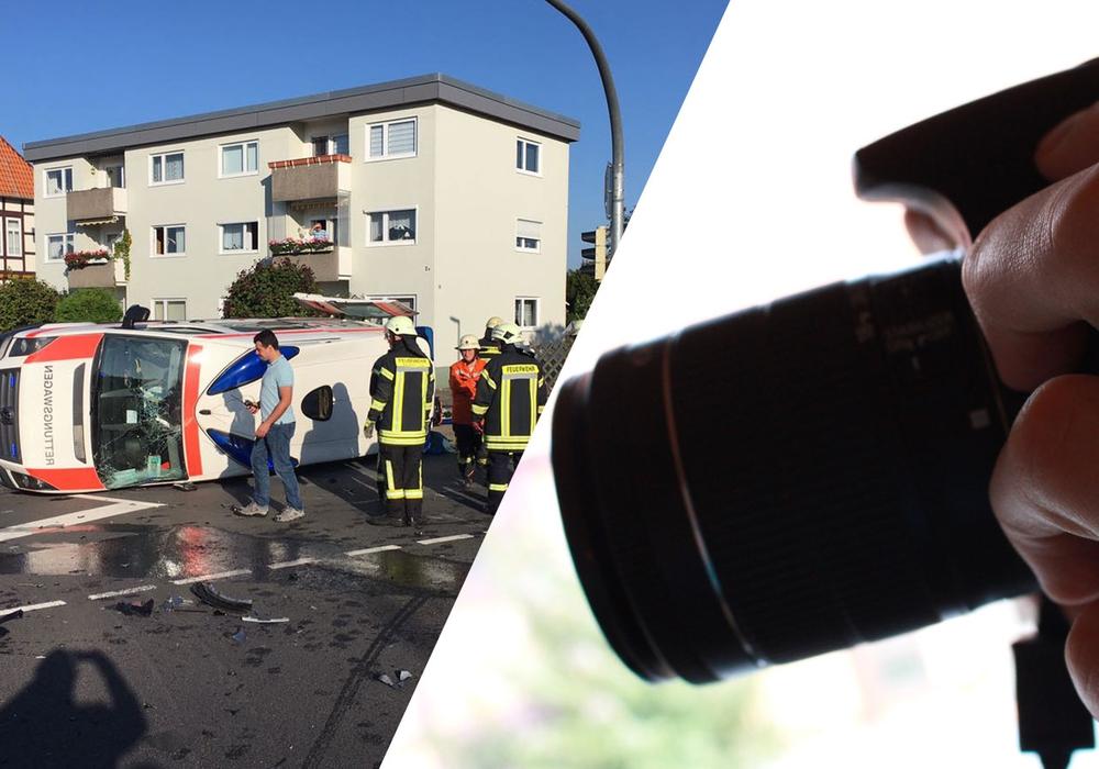 Ein Presse-Fotograf sorgte am Mittwochmorgen für Ärger. Foto: Dontscheff/Heise