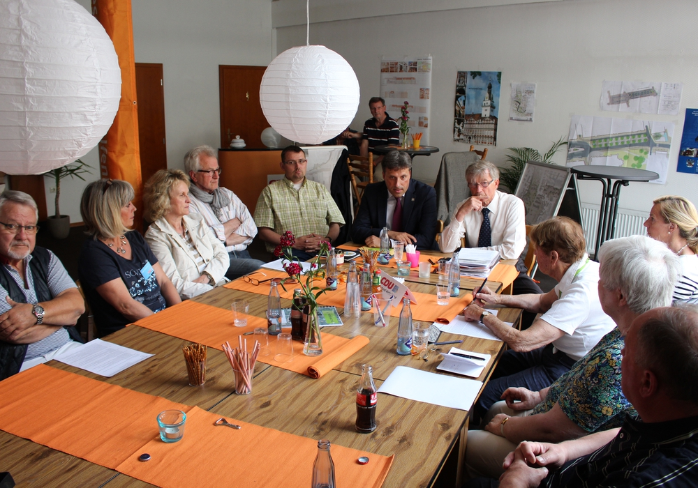 CDU-Bürgergespräch mit Stadtrat Thorsten Drahn. Foto: Max Förster