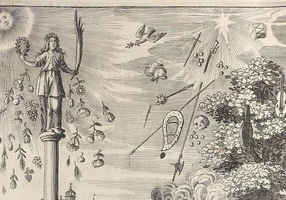 Bild: Johann Klaj: Geburtstag deß Friedens (Titelkupfer), Nürnberg 1650