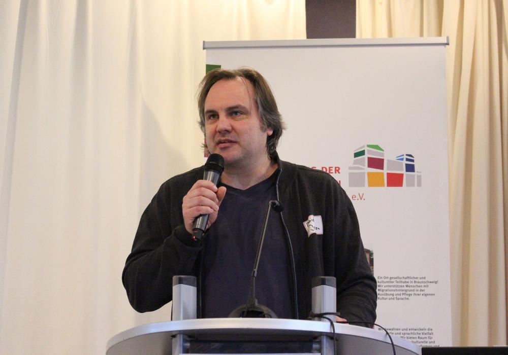 Bündnis-Pressesprecher David Janzen. Foto: Sina Rühland