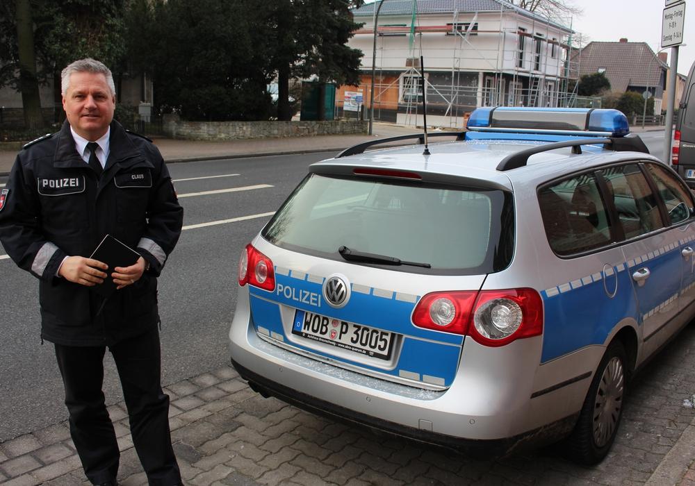 Sven Marco-Claus stellte die Einsatzzahlen der Polizei Wolfsburg vor. Foto: Magdalena Sydow