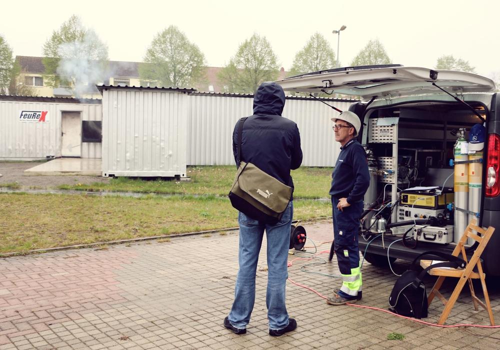 Am 6. Mai fanden in der Übungsanlage Emissionsmessungen statt. Fotos: Freydank/FeuReX