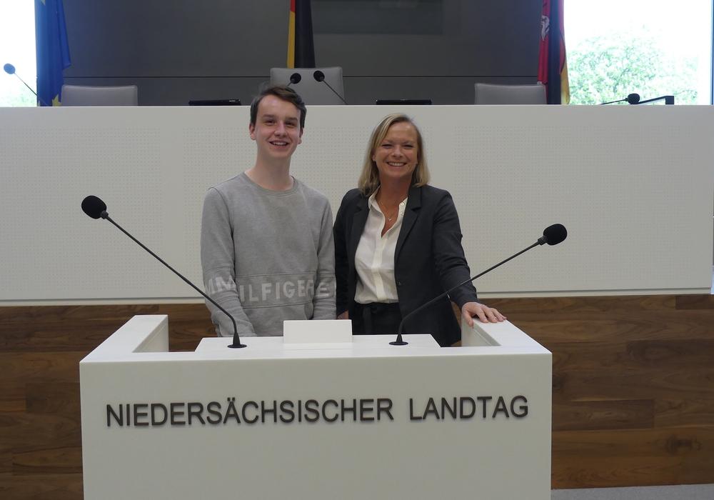 Espen Becker mit Dunja Kreiser. Foto: SPD