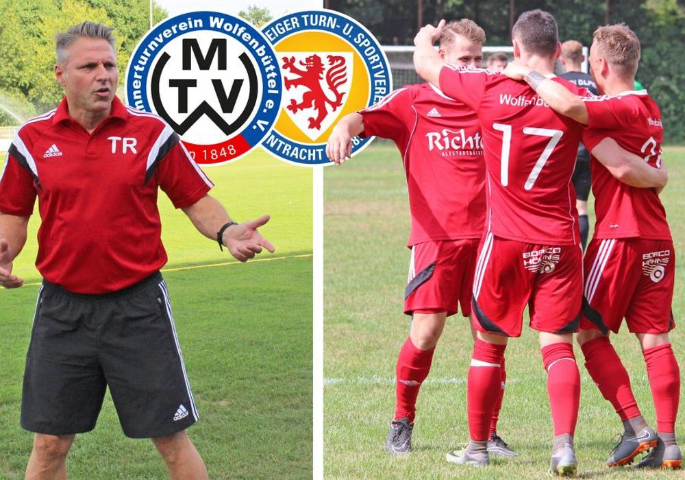 Große Vorfreude auf den Ligastart gegen Eintracht Braunschweig U23 bei Michael Nietz (li.) und seinem MTV Wolfenbüttel. Fotos: Frank Vollmer