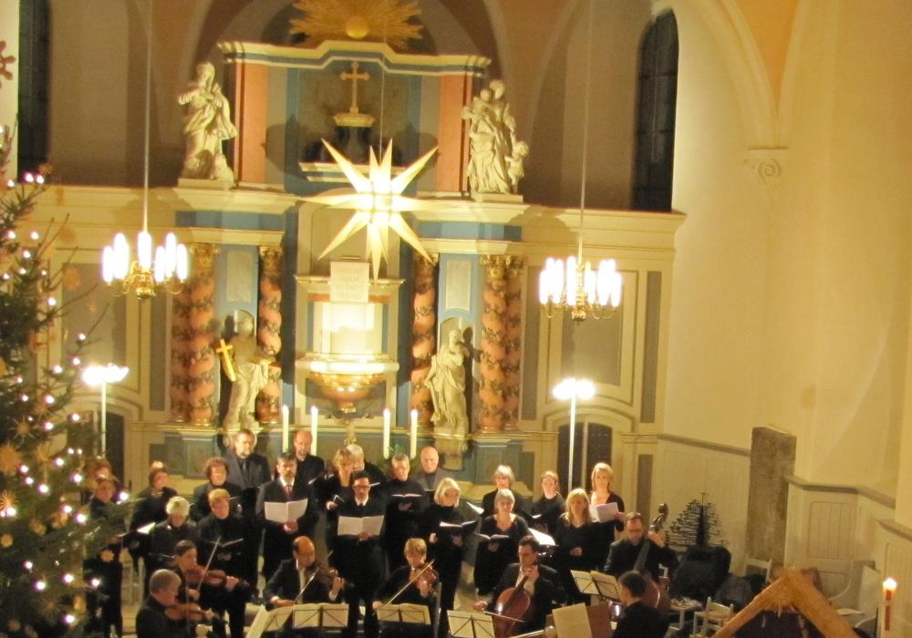 Kantorei-Weihnachtskonzert in der St. Stephanus-Kirche (2012). Foto: Privat