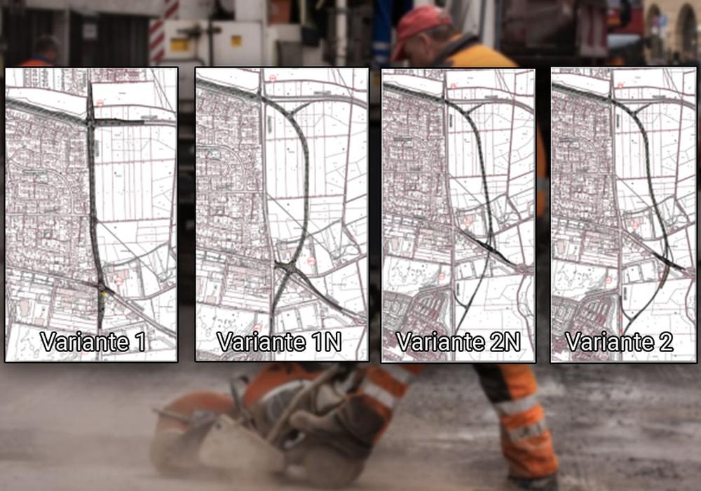 Die verschiedenen Planvarianten. Karten: Stadt Wolfsburg; Foto: pixabay