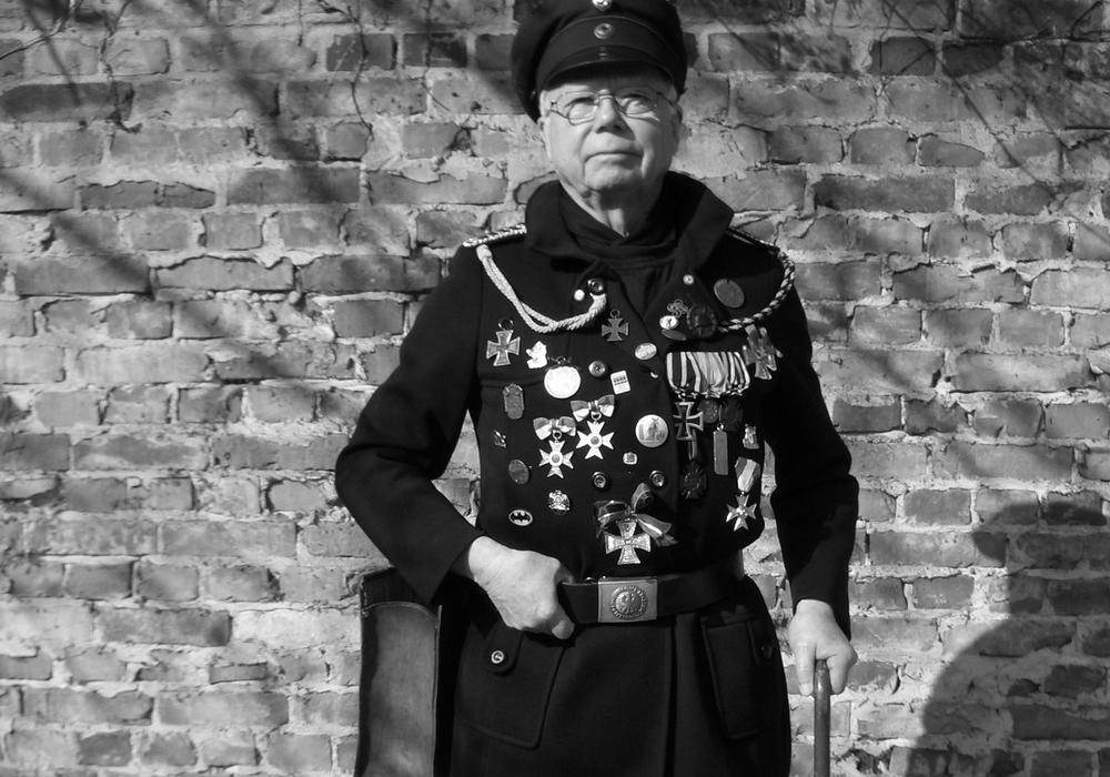 """Stadtführer Jürgen Walther führt als """"Deutscher Hermann"""" durch die Geschichte der Löwenstadt. Foto: Braunschweig Stadtmarketing / Sascha Gramann"""