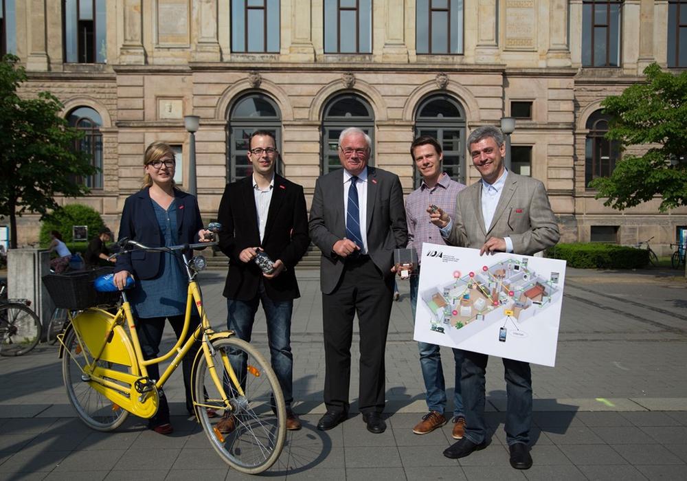 Vier Forschungsprojekte präsentieren sich im Schloss Bellevue. Braunschweiger Wissenschaftler bei »Woche der Umwelt« in Berlin. Foto: TU Braunschweig