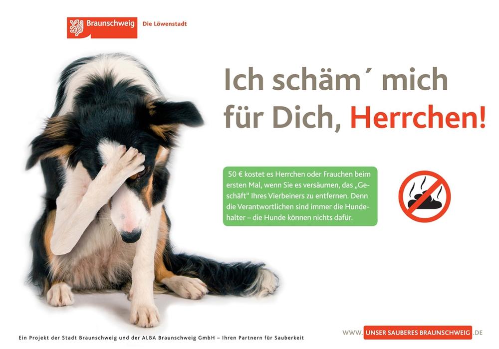 Vorsichtig geschätzt kommen in Braunschweig pro Tag eine Menge von ein bis zwei Tonnen Hundekot zusammen. Foto: Stadt Braunschweig