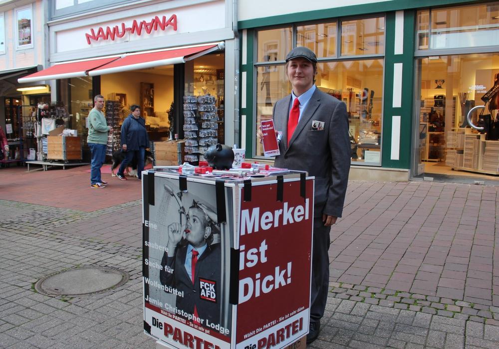 """Fredric Witte, stellvertretender Vorsitzender von """"Die Partei"""". Foto: Nick Wenkel"""