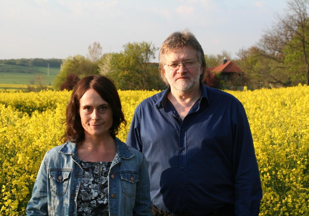 Tanja Kleinschmidt und Jochen Fuder von Bündnis 90/Die Grünen kandidieren für den Ortsrat in Weddel. Foto: Diethelm Krause-Hotopp