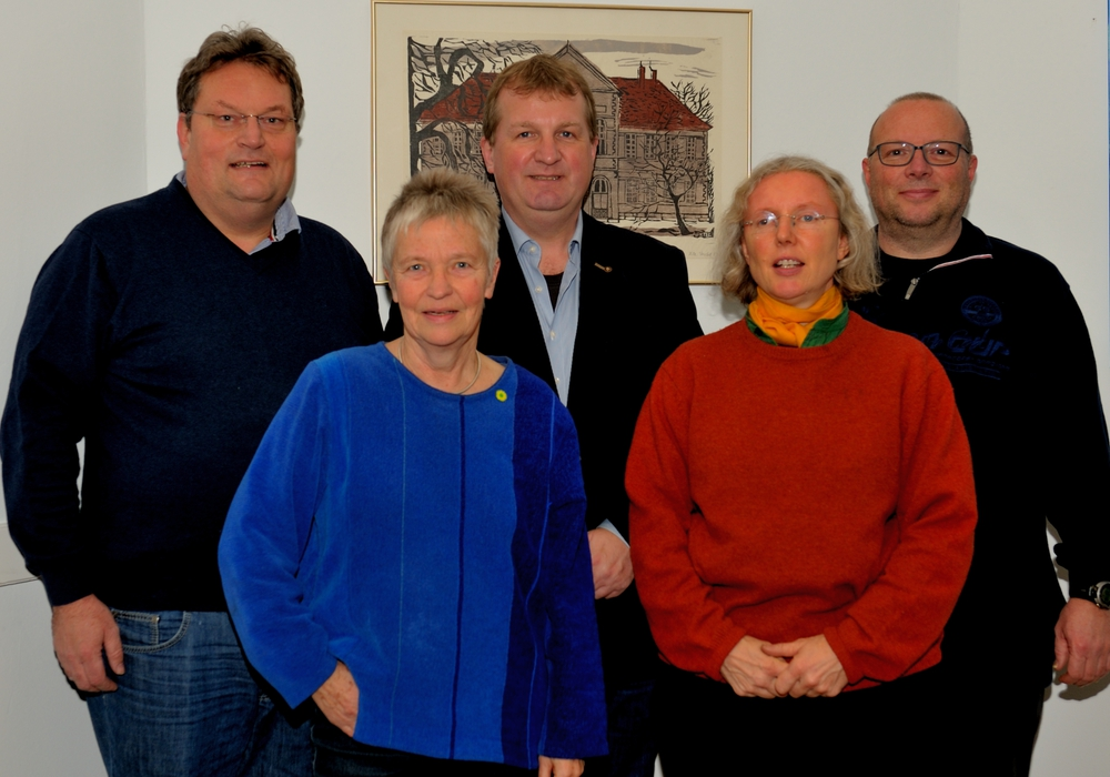 Die Grüne Samtgemeinderatsfraktion mit Michael Boos, Christiane Wagner-Judith, Andre Hinrichs, Irmela Wrede und Carsten Marowsky- Brée. Foto: M. Richert