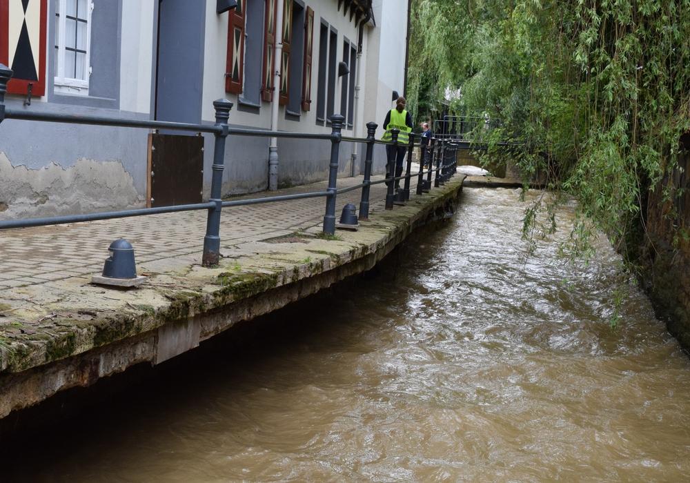 Der Verbindungsweg zwischen Museumsufer und Worthstraße musste nach dem Hochwasser aus Sicherheitsgründen gesperrt werden. Archivfoto: Stadt Goslar