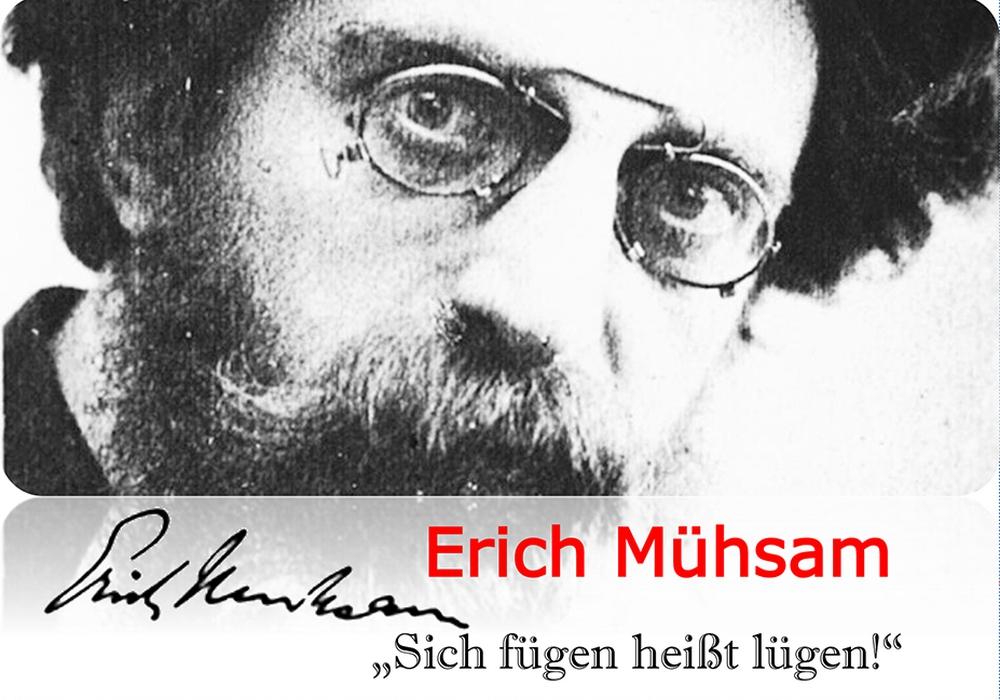 Erich Mühsam. Postkarte: Stadt  Braunschweig