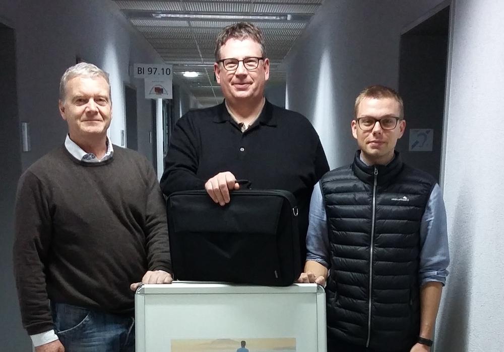 Andreas Haase, Andreas Frintrup (beide Rotary Club Braunschweig-Hanse) und Marcus Voitel (Wegbereiter). Foto: Wegbereiter