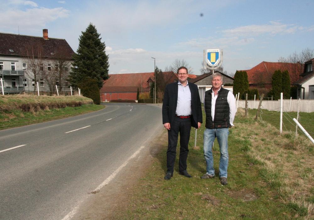 Der SPD-Landtagsabgeordnete Marcus Bosse und Uehrdes Bürgermeister Rudolf Wollrab. Foto: SPD