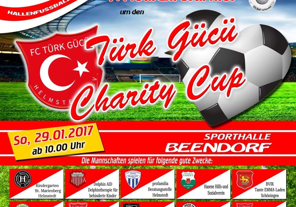 Das offizielle Turnierposter des Türc Gücü Charity Cups. Bild: Stadt Helmstedt