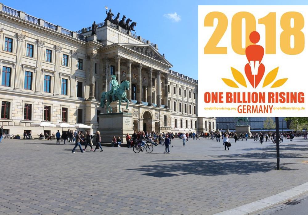"""Am Mittwoch findet die Tanz-Aktion """"One Billion Rising"""" ab 16:30 Uhr vor den Schlossarkaden statt. Foto: Veranstalter/Archiv"""