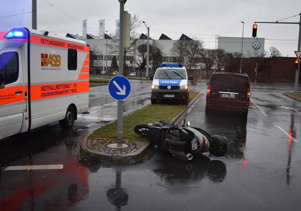 Der Unfall ereignete sich auf der Gifhorner Straße Ecke Am Schwarzen Berge. Foto: Polizei