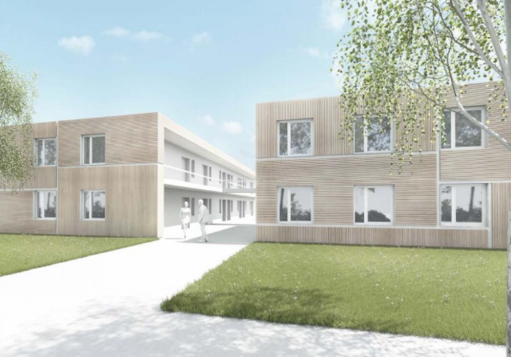 Flüchtlingsunterbringung in Modulbauweise. Bild: Stadt Braunschweig, Fachbereich 65