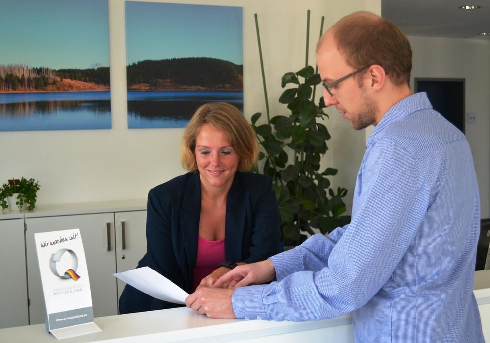 Der Empfangsbereich beim Wasserverband Weddel-Lehre. Foto: Privat