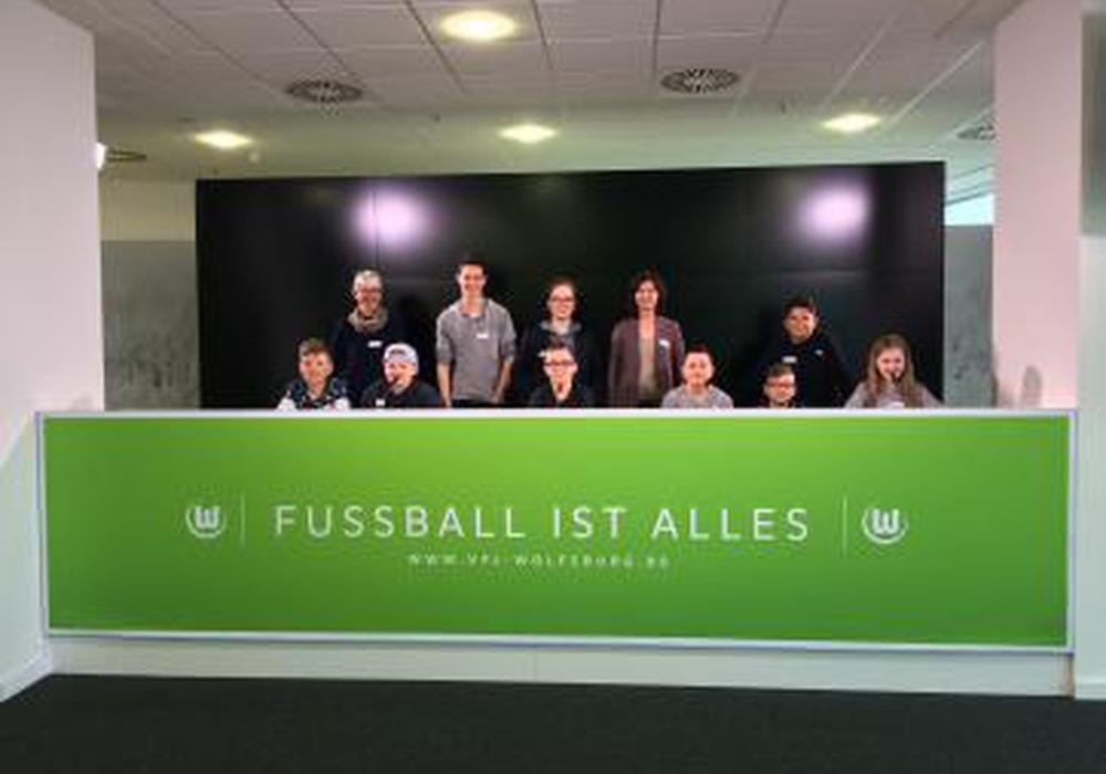 Junge Wölfe-Fans hatten die Gelegenheit ihre Meinung zur Volkswagen Arena zu sagen. Foto: Stadt Wolfsburg