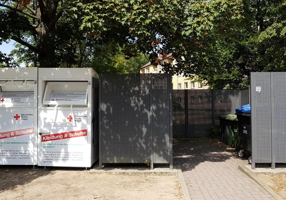 22 neue Container wurden aufgestellt. DRK Ortsverein Wolfsburg-Mitte