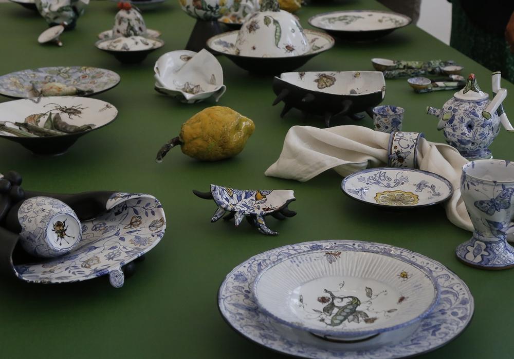 """Den Mittelpunkt der Ausstellung bildet die """"Tafel für Anna Amalia"""".  Fotos: Schloss Museum Wolfenbüttel"""