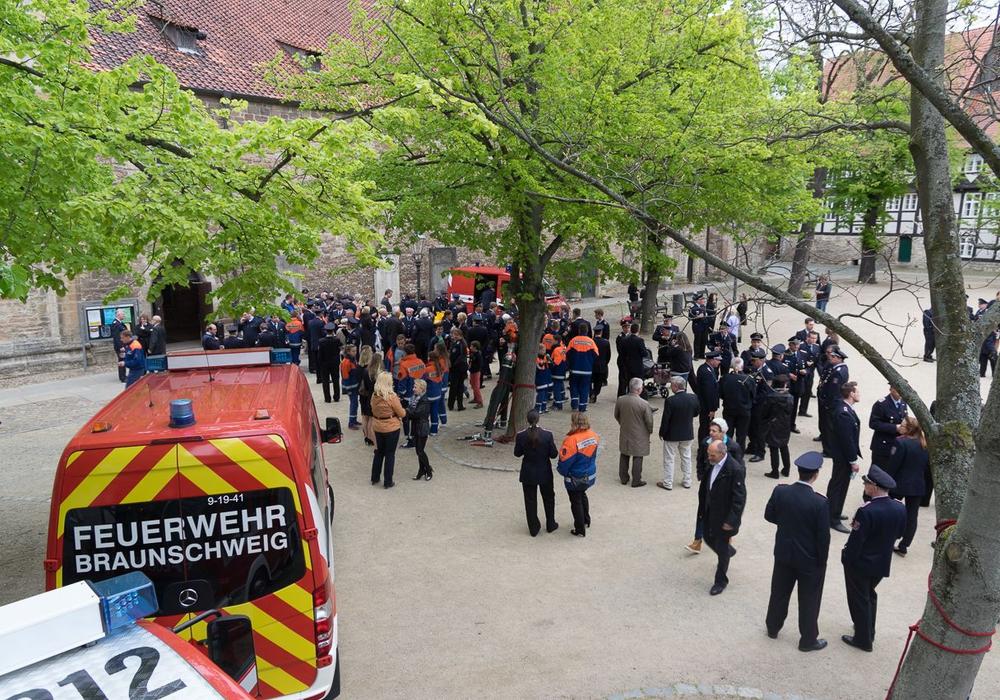 Der Ökumenischen Florianstag wird auf dem Magni-Kirchplatz gefeiert. Foto: Evangelisch-lutherische Propstei