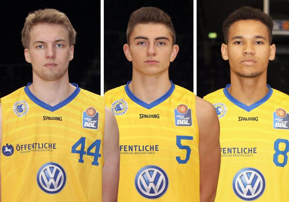 Lars Lagerpusch, Niklas Bilski und Samuel Mpacko - drei Jungs für das NBBL Allstar-Game am 14. Januar in Bonn. Fotos: Agentur Hübner/3