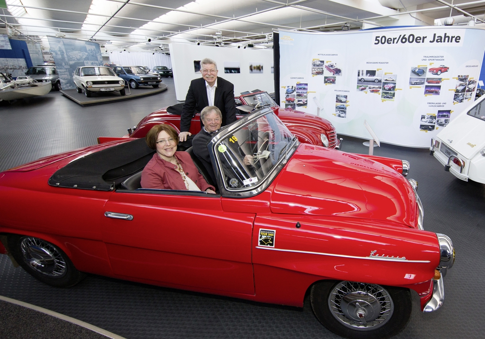 Cabriofans kommen im AutoMuseum momentan auf ihre Kosten. Foto: Volkswagen