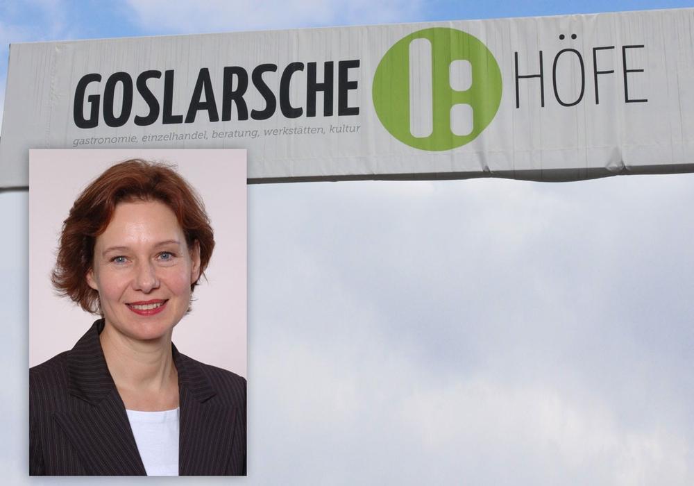 Dorothee Prüssner in den Goslarschen Höfen. Foto: Anke Donner; Goslarsche Höfe