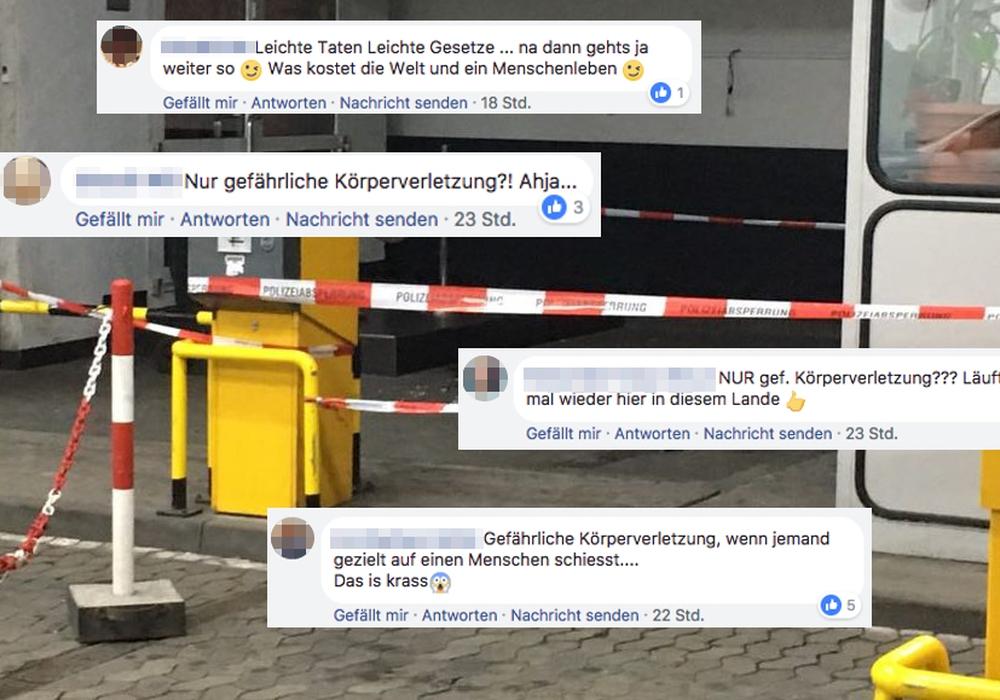 Die Facebook-Reaktionen auf die Ermittlung. Foto: Aktuell24(BM)/Facebook