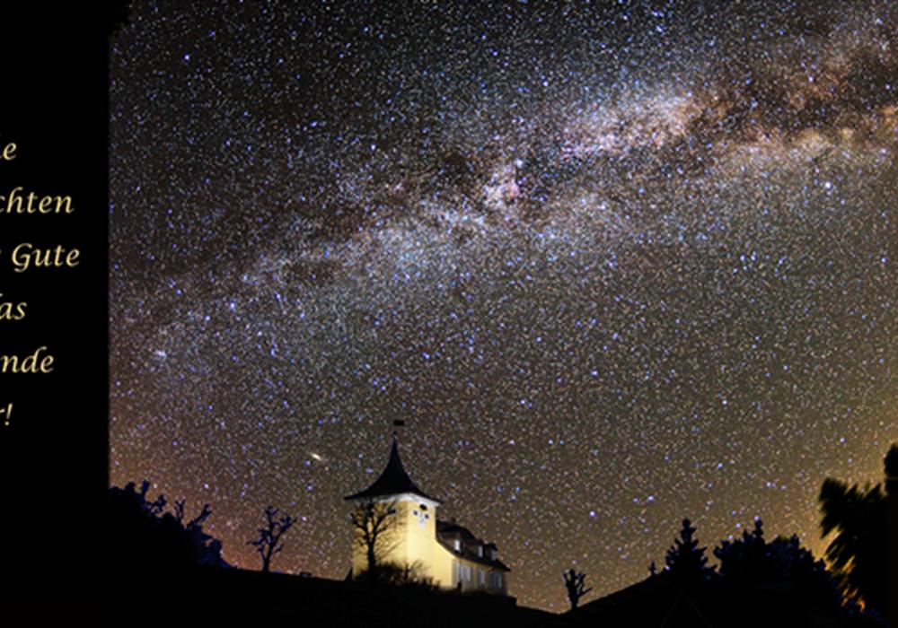 Die Sternwarte Sankt Andreasberg e.V. wünscht frohe Weihnachten und alles Gute für das neue Jahr. Außerdem informiert sie über kommende Veranstaltungen. Foto: Sternwarte Sankt Andreasberg e.V.